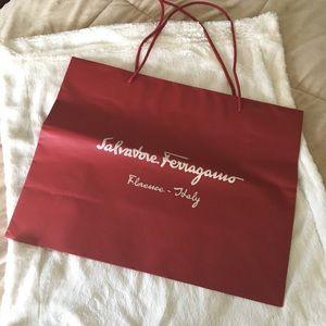 Salvatore Ferragamo Large red gift bag